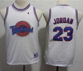 Youth Space Jam Tune Squad #23 Michael Jordan White Stitched Basketball Jersey