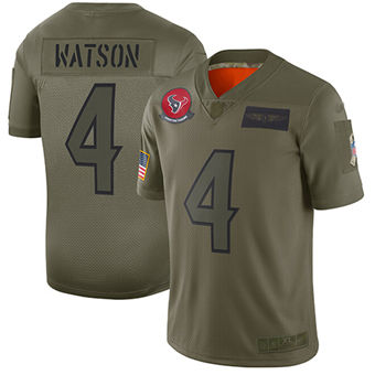 Youth Texans #4 Deshaun Watson Camo Stitched Football Limited 2019 Salute To Service Jersey