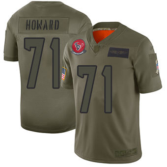 Youth Texans #71 Tytus Howard Camo Stitched Football Limited 2019 Salute To Service Jersey