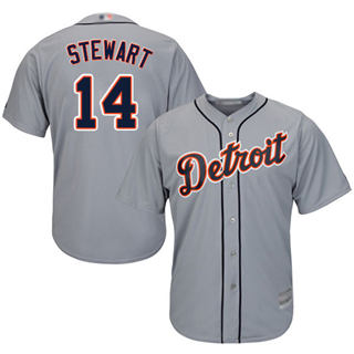 Youth Tigers #14 Christin Stewart Grey New Cool Base Stitched Baseball Jersey