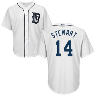 Youth Tigers #14 Christin Stewart White New Cool Base Stitched Baseball Jersey