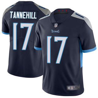 Youth Titans #17 Ryan Tannehil Navy Blue Team Color Stitched Football Vapor Untouchable Limited Jersey