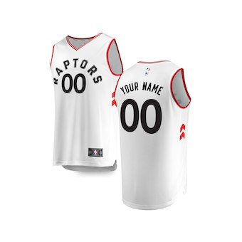 Youth Toronto Raptors White Custom Basketball Jersey - Association Edition