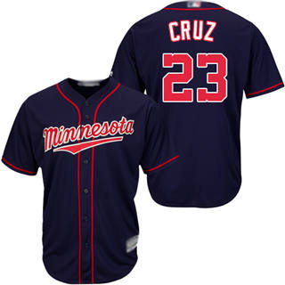 Youth Twins #23 Nelson Cruz Navy blue Cool Base Stitched Baseball Jersey