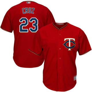 Youth Twins #23 Nelson Cruz Red Cool Base Stitched Baseball Jersey