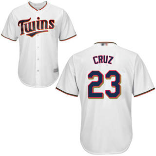 Youth Twins #23 Nelson Cruz White Cool Base Stitched Baseball Jersey
