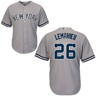 Youth Yankees #26 DJ LeMahieu Grey Cool Base Stitched Baseball Jersey