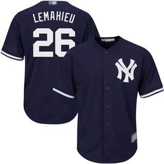 Youth Yankees #26 DJ LeMahieu Navy blue Cool Base Stitched Baseball Jersey