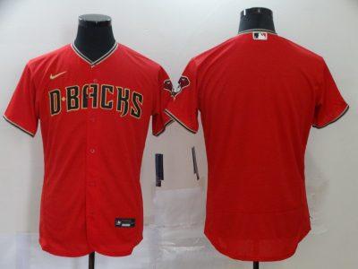 Men's Diamondbacks Blank Red 2020 Baseball Flexbase Jersey