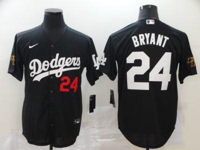 Men's Dodgers #24 Kobe Bryant Black 2020 Turn Back The Clock Baseball Jersey