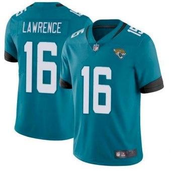 Men's Jacksonville Jaguars #16 Trevor Lawrence Teal 2021 Draft Vapor Untouchable Limited Stitched Jersey