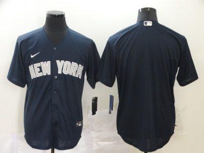Men's Yankees Blank Navy 2020 Baseball Cool Base Jersey